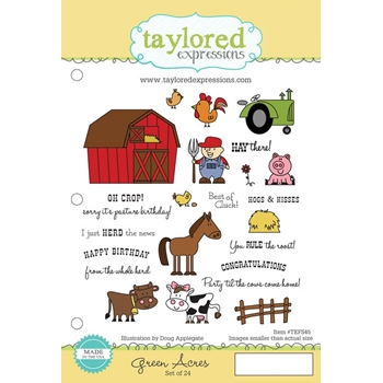 Taylored Expressions GREEN ACRES Cling Stamp Set TEFS45