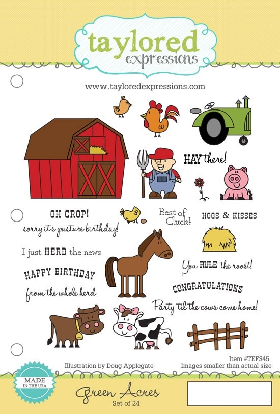 Taylored Expressions GREEN ACRES Cling Stamp Set TEFS45 zoom image