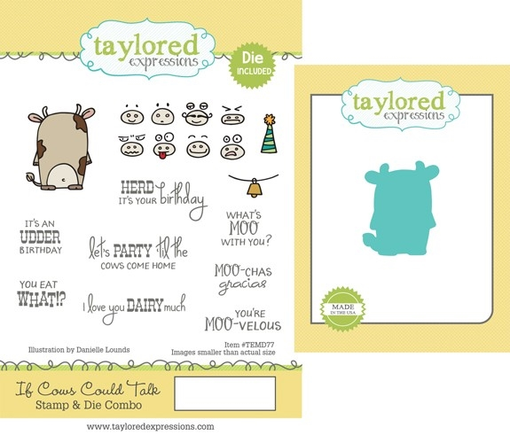 Taylored Expressions IF COWS COULD TALK Cling Stamp and Die Set TEMD77 zoom image