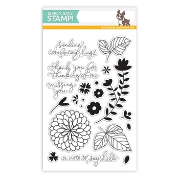 Simon Says Clear Stamps HANDWRITTEN FLORAL GREETINGS SSS101627 *