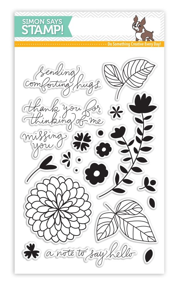 Simon Says Clear Stamps HANDWRITTEN FLORAL GREETINGS SSS101627 zoom image