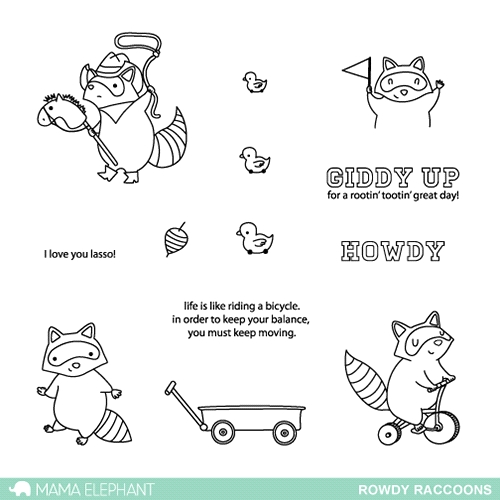 Mama Elephant Clear Stamps ROWDY RACCOONS Preview Image