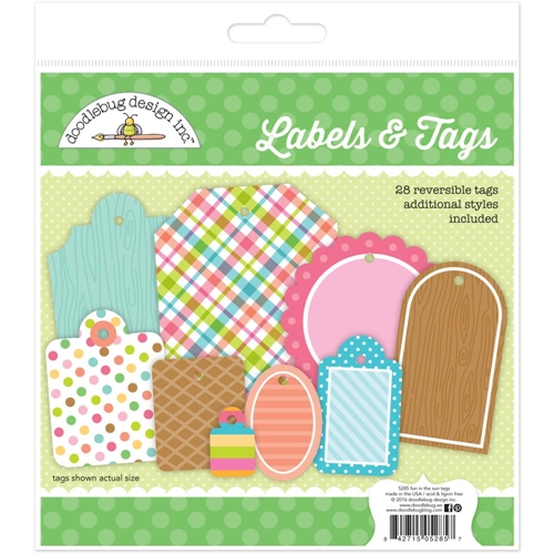 Doodlebug LABELS AND TAGS Fun In the Sun 5285 Preview Image