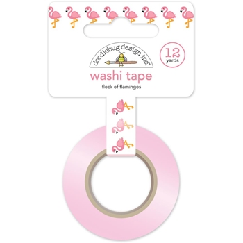 Doodlebug FLOCK OF FLAMINGOS Fun In The Sun Washi Tape 5213