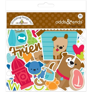 Doodlebug PUPPY LOVE Odds and Ends Die Cuts 5245