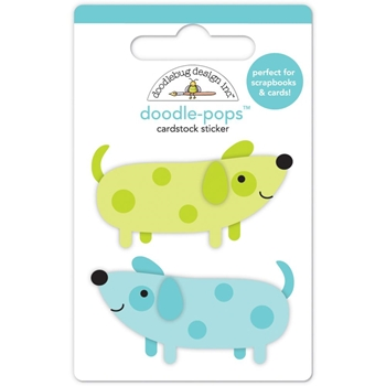 Doodlebug TEENY WEENIE DOGS Puppy Love Doodle Pops 3D Stickers 5273