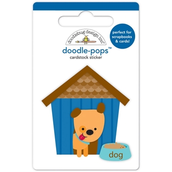 Doodlebug HUEY'S HOUSE Puppy Love Doodle Pops 3D Stickers 5236