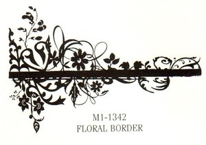 Tim Holtz Rubber Stamp FLORAL BORDER Stampers Anonymous M1-1342 zoom image