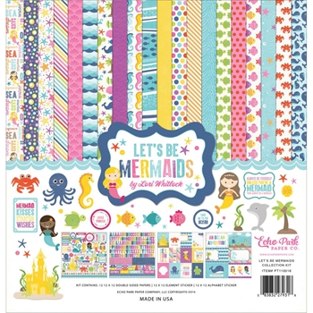 Echo Park LET'S BE MERMAIDS 12 x 12 Collection Kit LBM110016