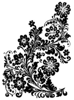 Tim Holtz Rubber Stamp LEATHER FLORAL Stampers Anonymous M1-1343 zoom image