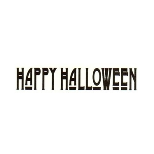 Tim Holtz Rubber Stamp HAPPY HALLOWEEN Stampers Anonymous G3-1345 Preview Image