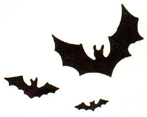 Tim Holtz Rubber Stamp DING BATS Halloween Stampers Anonymous H1-1346