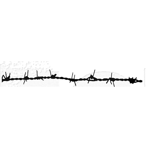 Tim Holtz Rubber Stamp BARBED WIRE Stampers Anonymous U6-1348 Preview Image
