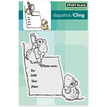 Penny Black Cling Stamp YOU'RE INVITED Set 40-463