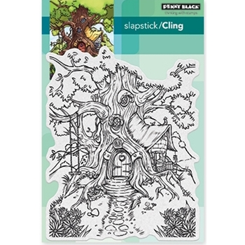 Penny Black Cling Stamp COTTAGE TREEHOUSE 40-477