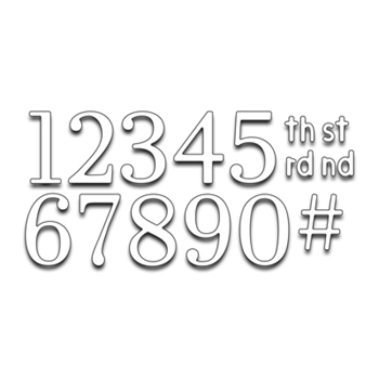 Penny Black NUMBERS Thin Metal Creative Dies 51-239