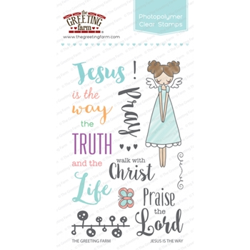 The Greeting Farm JESUS IS THE WAY Clear Stamps TGF250