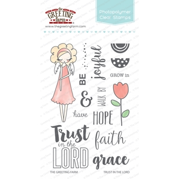 The Greeting Farm TRUST IN THE LORD Clear Stamps TGF251