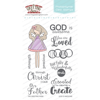 The Greeting Farm GOD IS AWESOME Clear Stamps TGF249