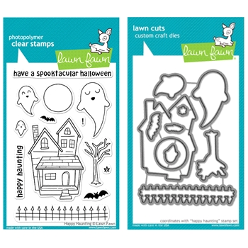 Lawn Fawn SET LFSETHH HAPPY HAUNTING Clear Stamps and Dies