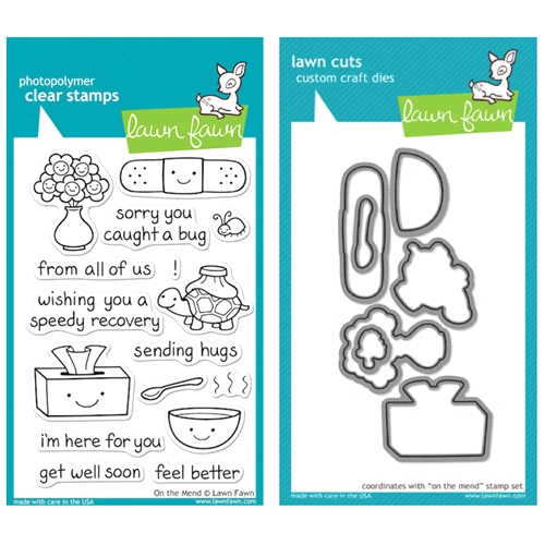 Lawn Fawn SET LFSETOTM ON THE MEND Clear Stamps and Dies Preview Image