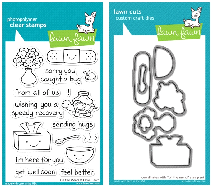 Lawn Fawn SET LFSETOTM ON THE MEND Clear Stamps and Dies zoom image