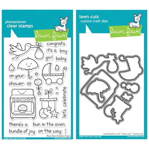 Lawn Fawn SET LFSETPO PLUS ONE Clear Stamps and Dies Preview Image
