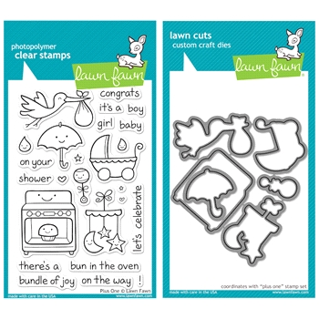 Lawn Fawn SET LFSETPO PLUS ONE Clear Stamps and Dies
