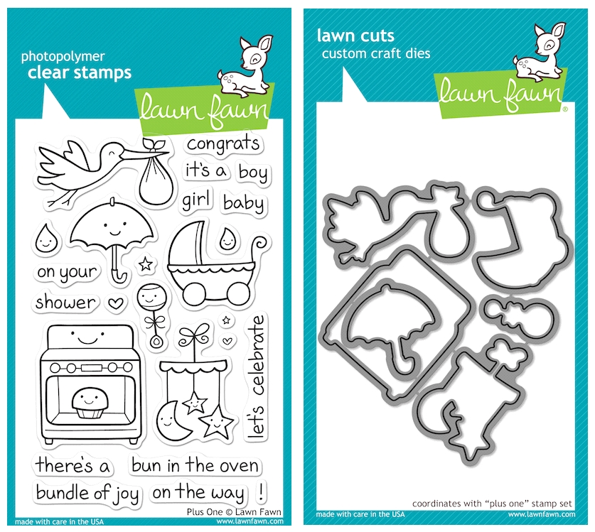 Lawn Fawn SET LFSETPO PLUS ONE Clear Stamps and Dies zoom image
