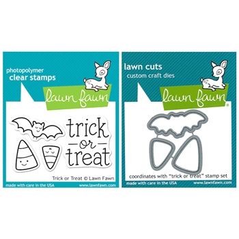 Lawn Fawn SET LFSETTOT TRICK OR TREAT Clear Stamps and Dies