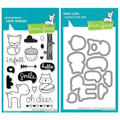 Lawn Fawn SET LFSETITW INTO THE WOODS Clear Stamps and Dies Preview Image