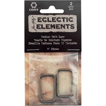 Tim Holtz Eclectic Elements ANTIQUE BRASS 25mm Medium Belt Loop 015854