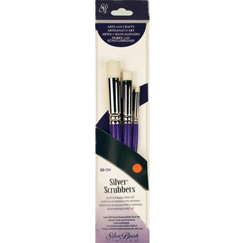 Silver SCRUBBERS FLAT ROUND Brush set SS154
