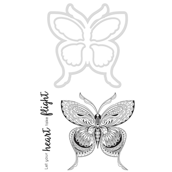 Kaisercraft BUTTERFLY Die and Stamp Set DD928