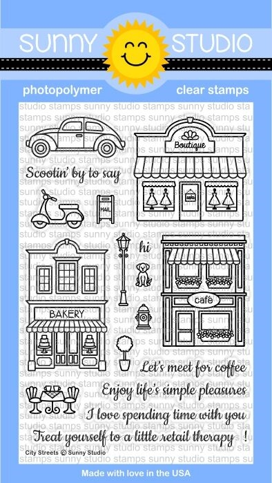 Sunny Studio CITY STREETS Clear Stamp Set SSCL134 zoom image