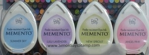 Memento OH BABY 4 Dew Drop Ink Pads MD-100-014
