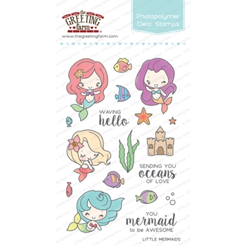 The Greeting Farm LITTLE MERMAIDS Clear Stamps TGF252