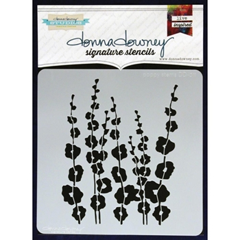 Donna Downey POPPY STEMS Signature Stencil DD011