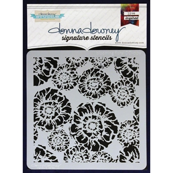 Donna Downey BLOOMING FLORAL Signature Stencil DD009*