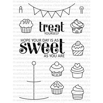 Clearly Besotted TEENY TINY TREATS Clear Stamp Set