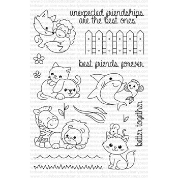 Clearly Besotted BEST FRIENDS Clear Stamp Set