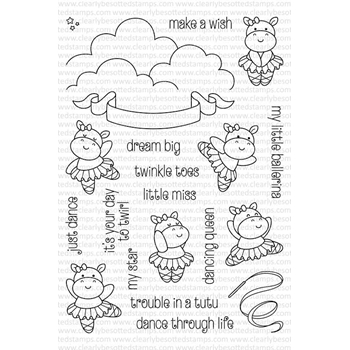 RESERVE Clearly Besotted TROUBLE IN A TUTU Clear Stamp Set