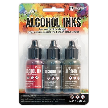 Tim Holtz Alcohol Ink Set TUSCAN GARDEN Adirondack Ranger TIM20707