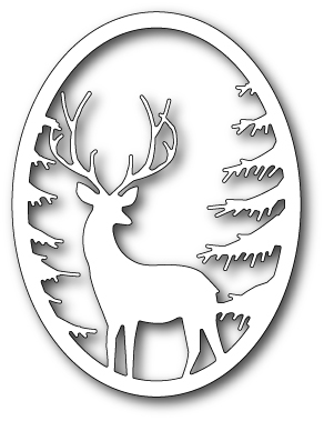 Memory Box GRAND STAG OVAL FRAME Craft Die 99493 Preview Image