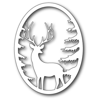 Memory Box GRAND STAG OVAL FRAME Craft Die 99493
