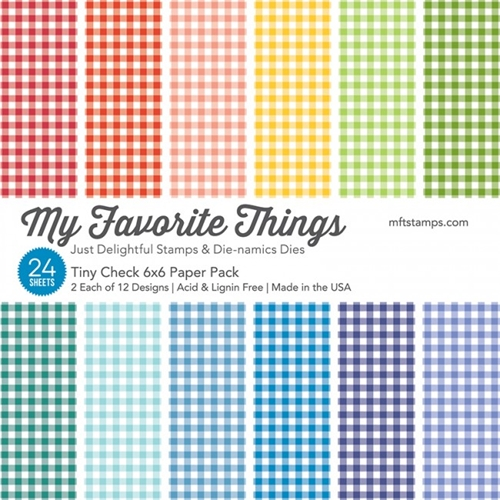 My Favorite Things TINY CHECK 6x6 Paper Pack 01402 Preview Image