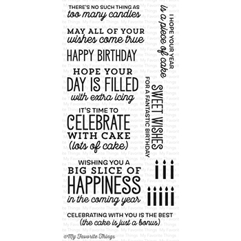 My Favorite Things BIG BIRTHDAY SENTIMENTS Clear Stamps CS133