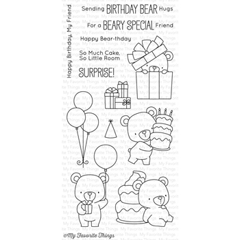 My Favorite Things BEARY SPECIAL BIRTHDAY Clear Stamps BB36
