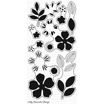 My Favorite Things FLASHY FLORALS Clear Stamps CS127*