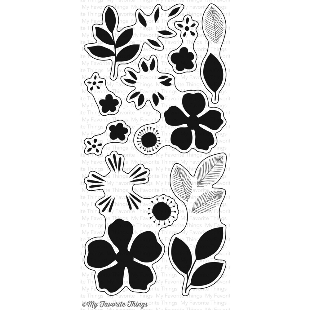 My Favorite Things FLASHY FLORALS Clear Stamps CS127* zoom image
